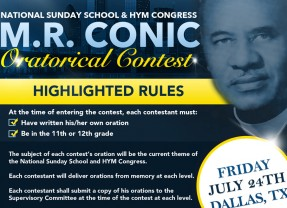2015 M. R. Conic Oratorical Contest
