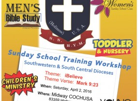 Sunday School Training Workshop
