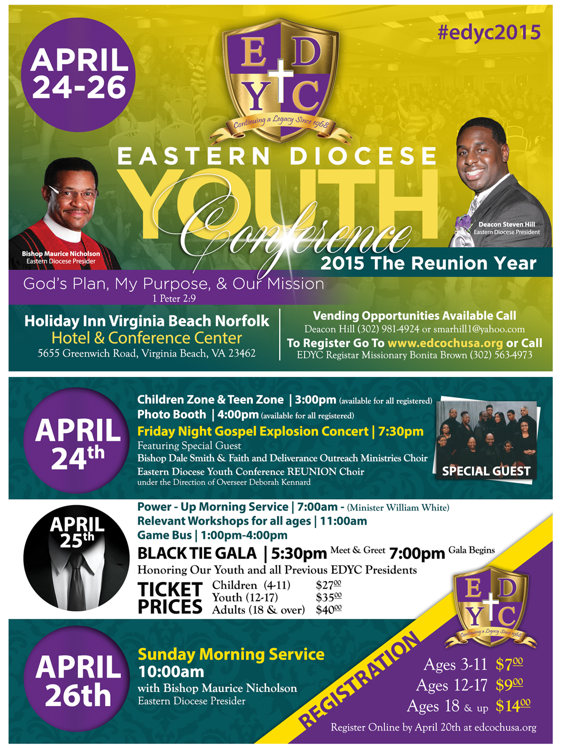 2015 Official Eastern Diocese Youth Conference Flyer