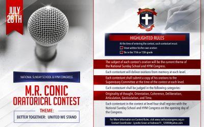 2018 M. R. Conic Oratorical Contest