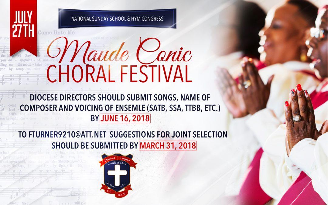 2018 Choral Festival – A Combined Choir!