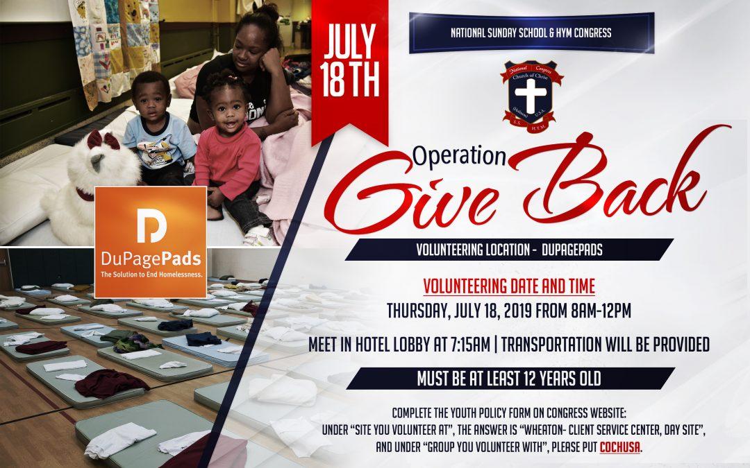 Operation Giveback 2019!